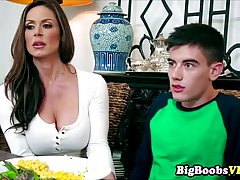 Busty milf, Kendra Lust is about to have sex with her best friend's shy son just for fun